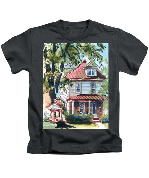 American Home With Children's Gazebo Kids T-Shirt