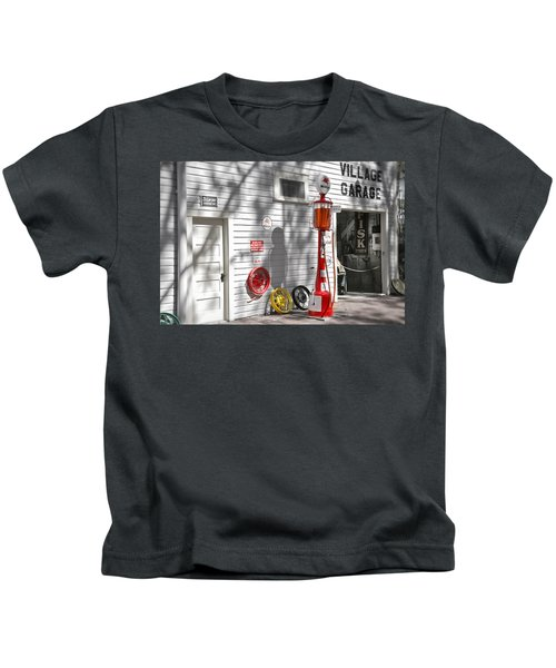 An Old Village Gas Station Kids T-Shirt