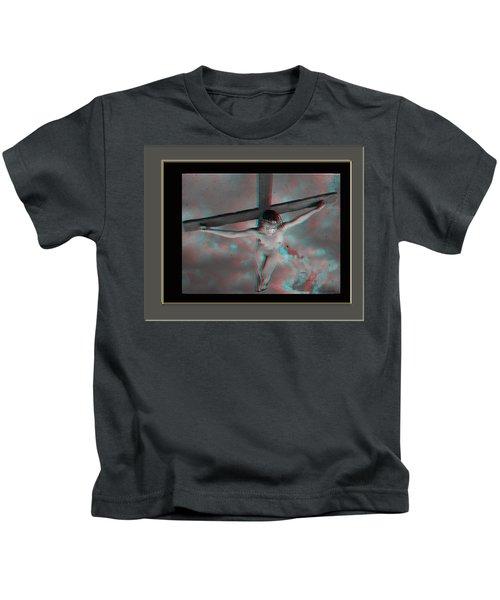 Anaglyph Black Female Jesus Kids T-Shirt