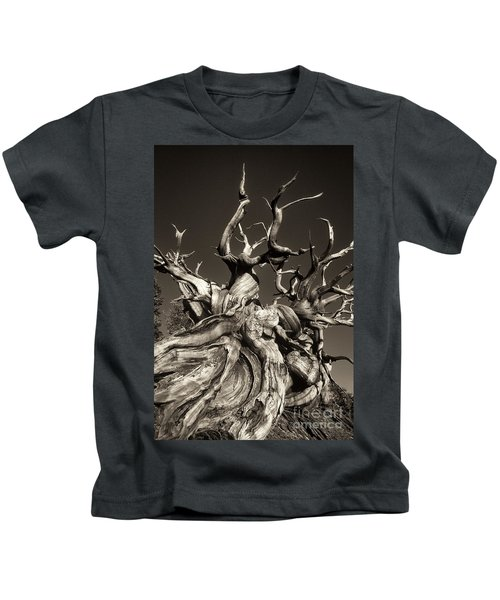Ancient Bristlecone Pine In Black And White Kids T-Shirt