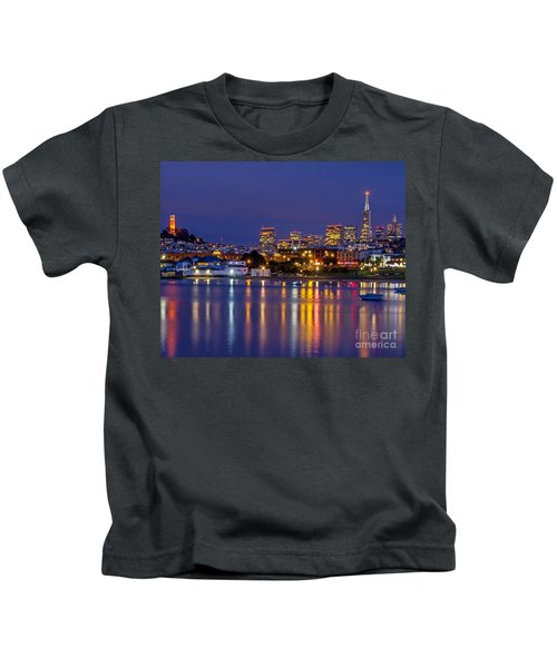 Aquatic Park Blue Hour Kids T-Shirt