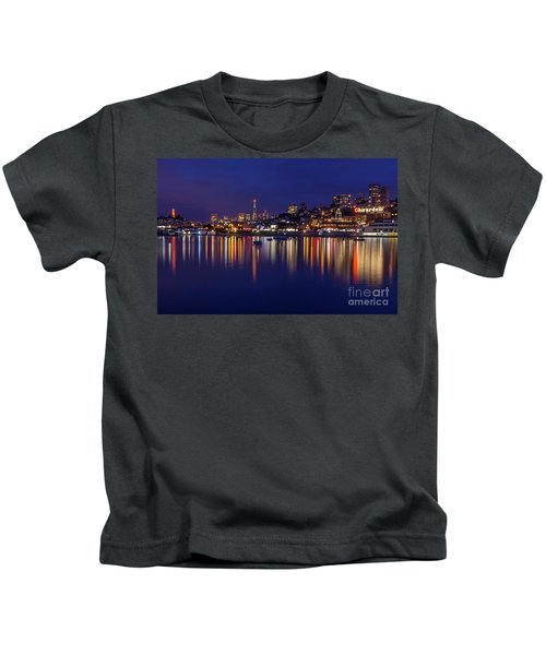 Aquatic Park Blue Hour Wide View Kids T-Shirt