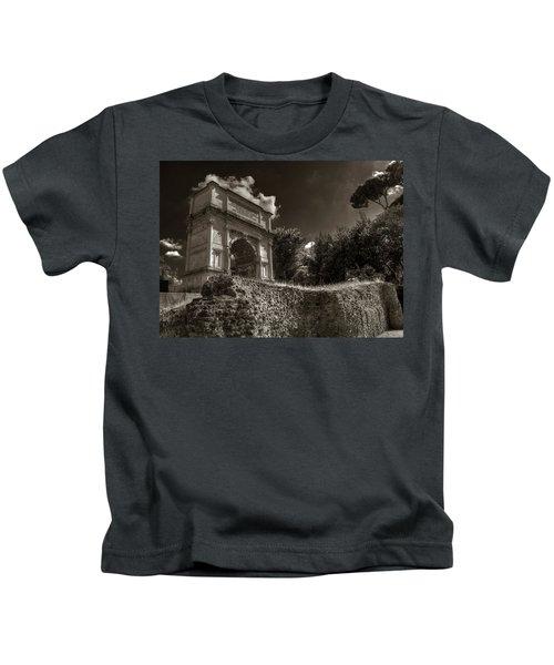 Arch Of Titus Kids T-Shirt