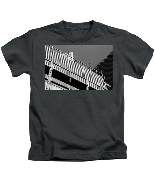 Architectural Lines Black White Kids T-Shirt