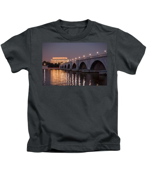 Arlington Memorial Bridge Kids T-Shirt