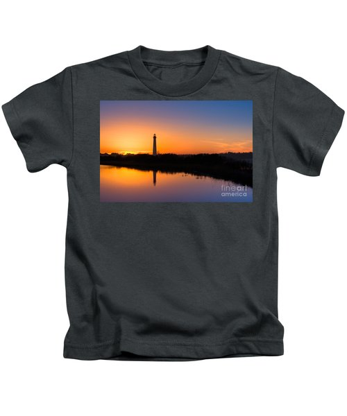 As The Sun Sets And The Water Reflects Kids T-Shirt