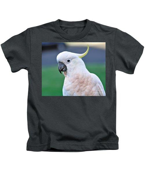 Australian Birds - Cockatoo Kids T-Shirt by Kaye Menner