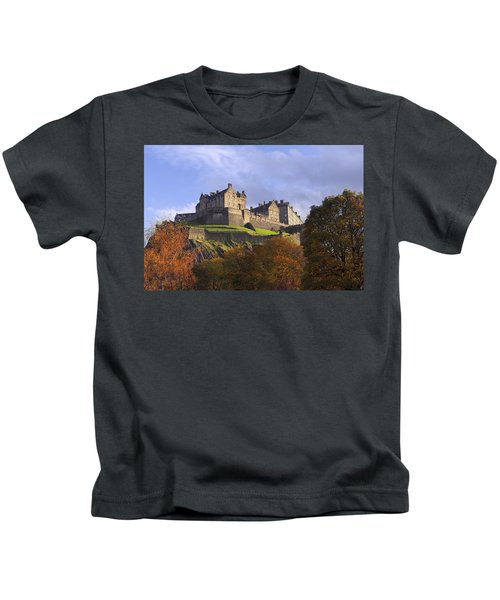 Autumn At Edinburgh Castle Kids T-Shirt