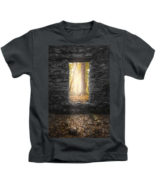 Autumn Within Long Pond Ironworks - Historical Ruins Kids T-Shirt