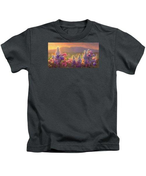 Awakening - Mt Susitna Spring - Sleeping Lady Kids T-Shirt