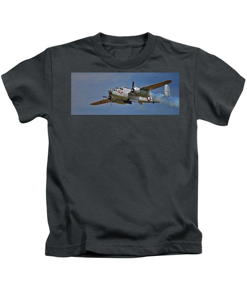 B-25 Take-off Time 3748 Kids T-Shirt