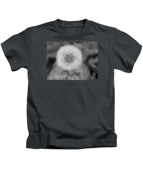 B And W Seed Head Kids T-Shirt