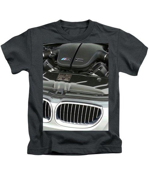 B M W M5 V10 Motor Kids T-Shirt