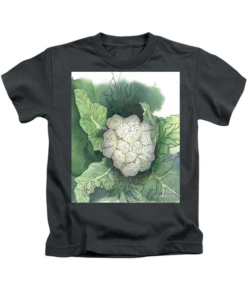 Baby Cauliflower Kids T-Shirt by Maria Hunt