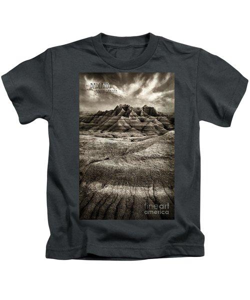 Badlands Of South Dakota Kids T-Shirt