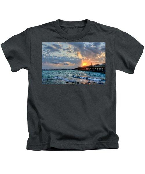 Bahia Honda Sunset Kids T-Shirt