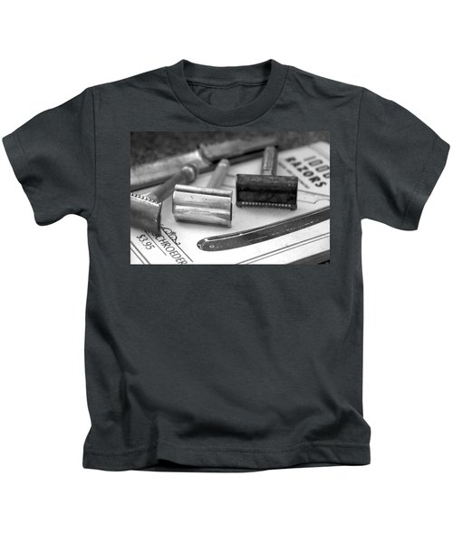 Barber Shop 20 Bw Kids T-Shirt
