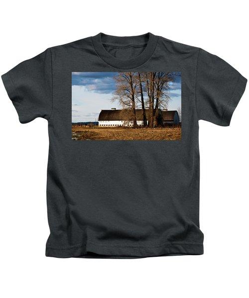 Barn And Trees Kids T-Shirt