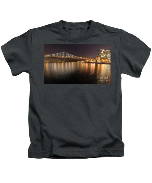 Bay Bridge Lights And City Kids T-Shirt