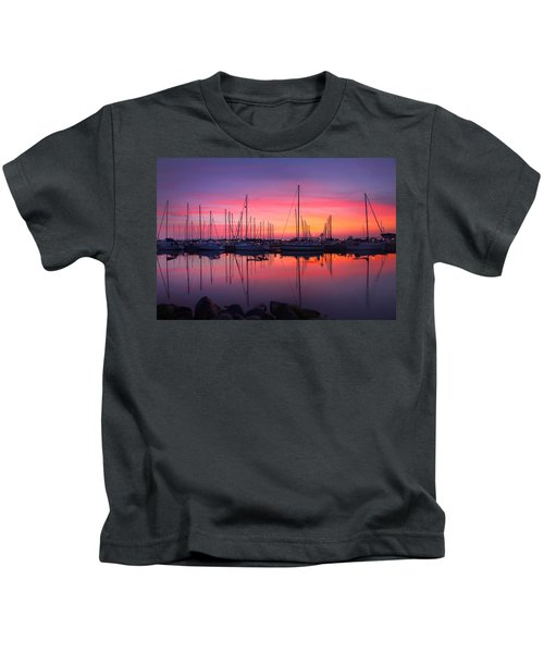 Bayfield Wisconsin Magical Morning Sunrise Kids T-Shirt