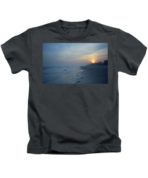 Beach And Sunset Kids T-Shirt
