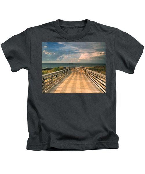 Beach Walk Kids T-Shirt