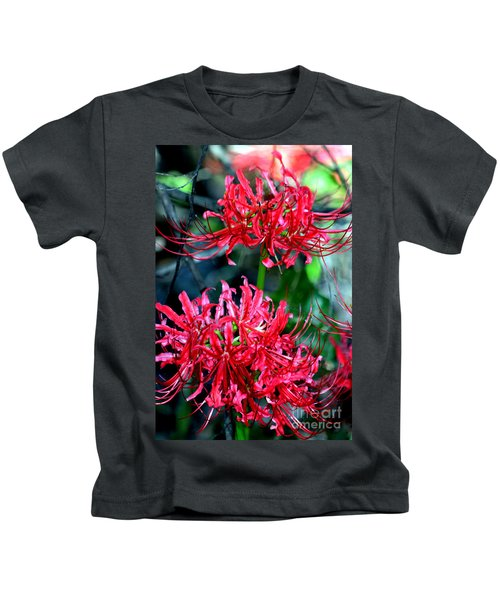 Beauty Of Red Spider Lilies Kids T-Shirt