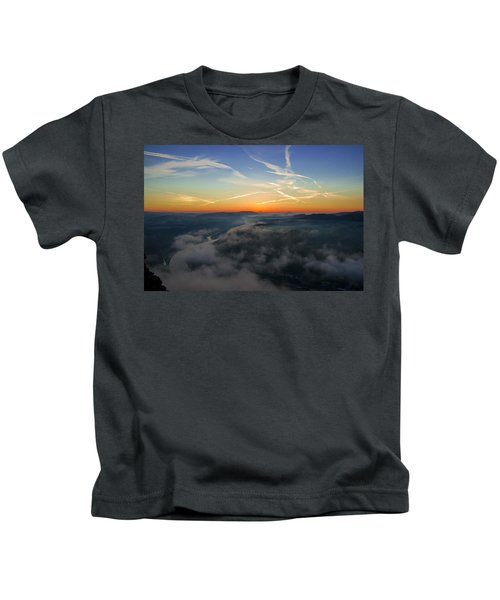 Before Sunrise On The Lilienstein Kids T-Shirt