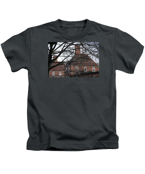 The British Ambassador's Residence Behind Trees Kids T-Shirt by Cora Wandel