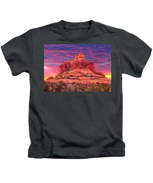 Bell Rock Sunset Kids T-Shirt
