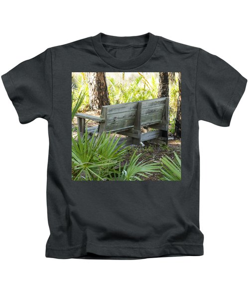 Bench In Nature Kids T-Shirt