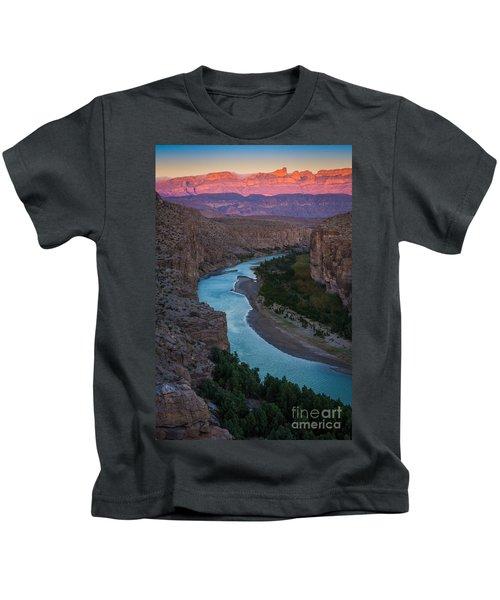 Bend In The Rio Grande Kids T-Shirt