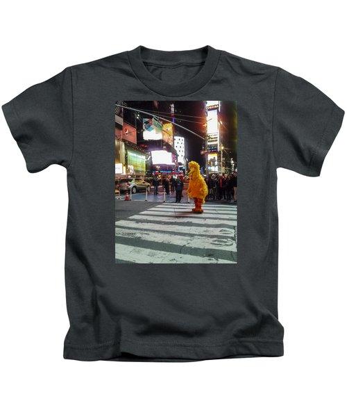Big Bird On Times Square Kids T-Shirt