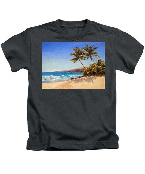 Hawaiian Beach Seascape - Big Island Getaway  Kids T-Shirt