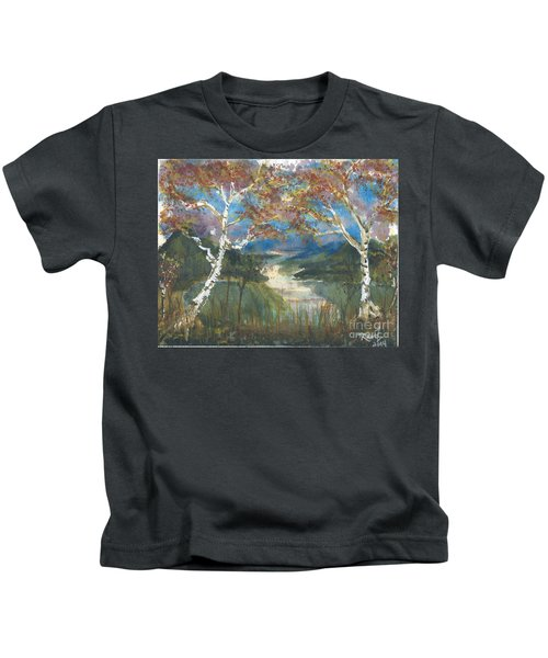 Birch Trees On The Ridge  Kids T-Shirt