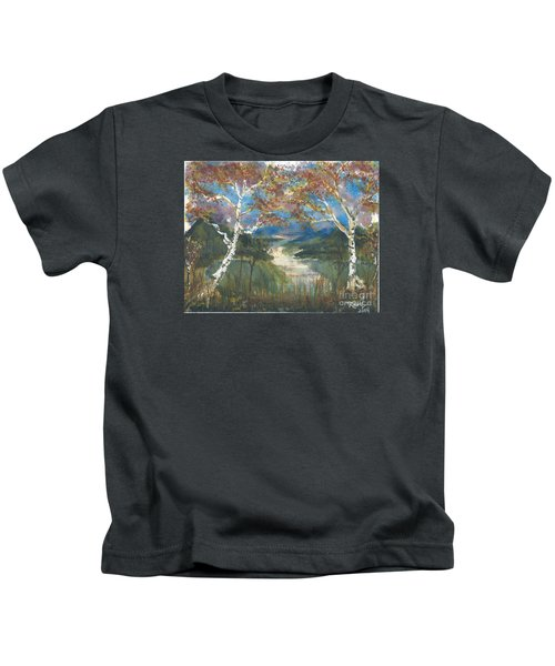 Birch Trees On The Ridge  Kids T-Shirt