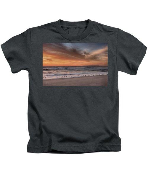 Birds In The Surf Kids T-Shirt