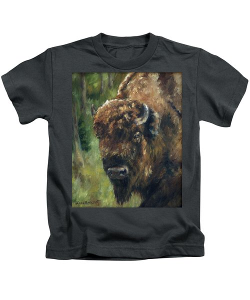 Bison Study - Zero Three Kids T-Shirt