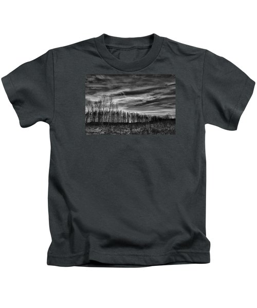 Black And White Grongarn Sky December 16 2014 Colouring The Clouds  Kids T-Shirt