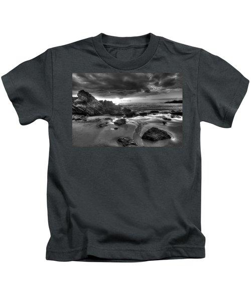 Black And White Laguna Beach Kids T-Shirt