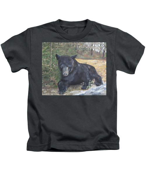 Black Bear - Wildlife Art -scruffy Kids T-Shirt
