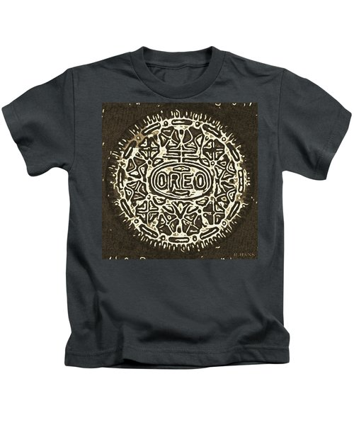 Black Sepia Oreo Kids T-Shirt