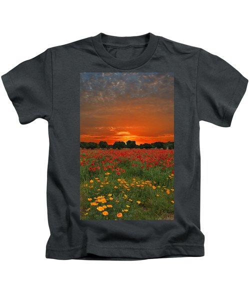 Blaze Of Glory Kids T-Shirt