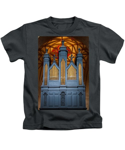 Blue And Gold Music Kids T-Shirt