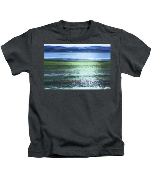 Blue Green Landscape Kids T-Shirt