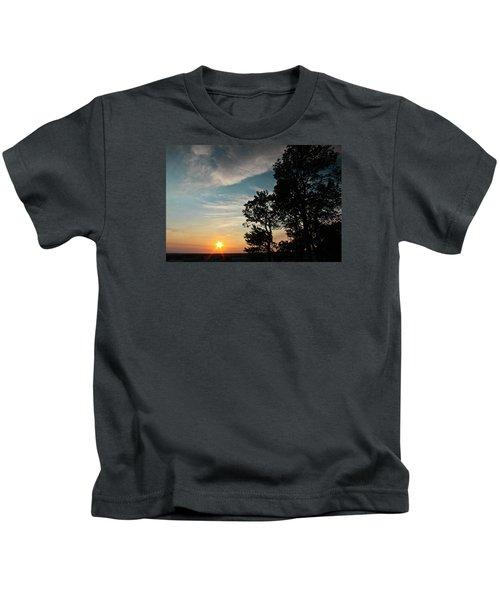 Blue Heaven Sunset Kids T-Shirt