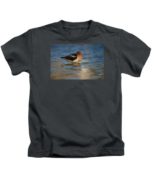 Blue Solitude Kids T-Shirt
