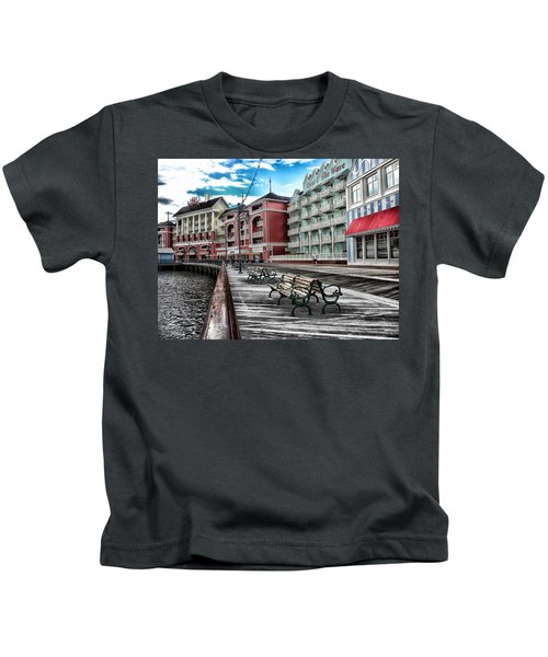 Boardwalk Early Morning Kids T-Shirt
