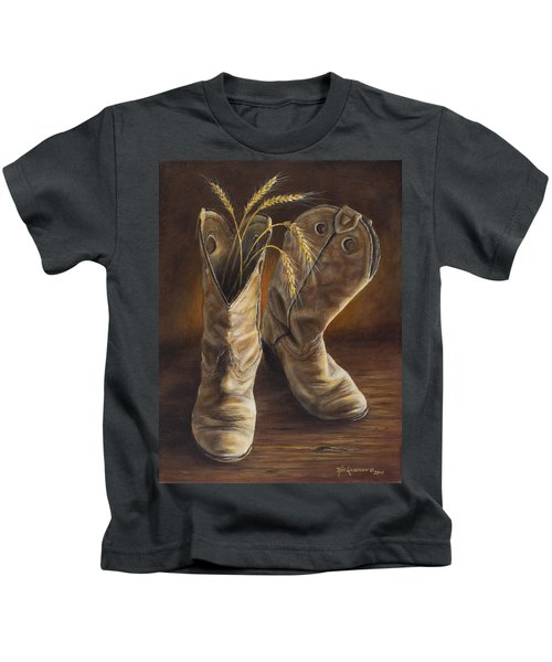 Boots And Wheat Kids T-Shirt
