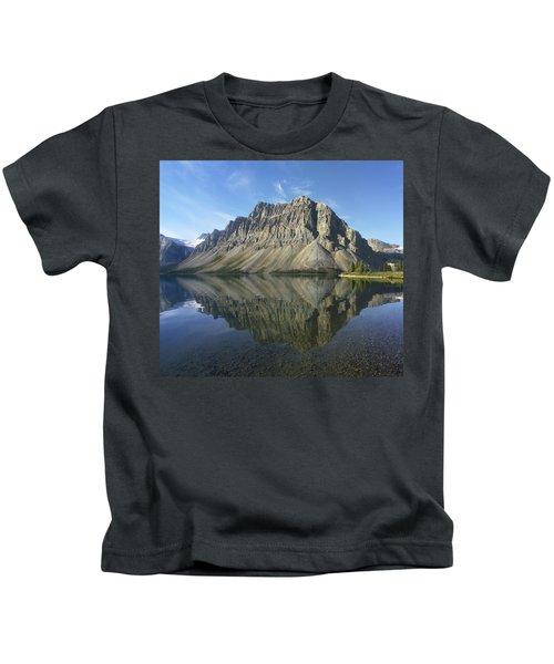 Bow Lake And Crowfoot Mts Banff Kids T-Shirt